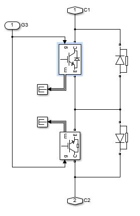 3شبیه سازی مبدل ماتریسی همراه با مدار اسنابر در simulink نرم افزار matlab