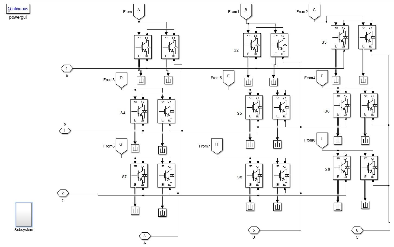 شبیه سازی راه اندازی موتور القایی با استفاده از مبدل ماتریسی (شبیه سازی در simulink)
