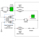 شبیه سازی ترانسفورماتور توزیع سه سیم پیچ در نرم افزار matlab