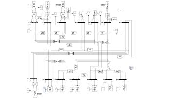 شبیه سازی سیستم  IEEE 14 BUS در نرم افزار Matlab