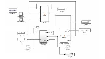 پنل فتو ولتائیک به همراه مبدل Boost با کنترل توسط الگوریتم P&O