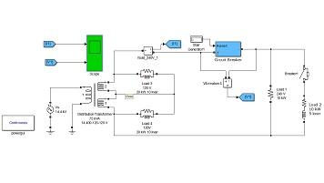 مدلسازی قطع شبکه توسط دیژنکتور در محیط سیمولینک متلب