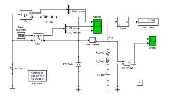 طراحی مبدل DC به DC از نوع Buck به کمک تریستور GTO در نرم افزار متلب