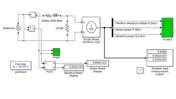 مدلسازی بار دینامیکی تکفاز در سیمولینک نرم افزار متلب