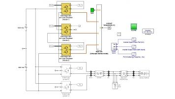 شبیه سازی محاسبه تلفات مربوط به اینورتر سه فاز سه لایه در محیط سیمولینک متلب