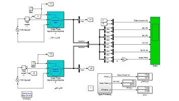 مقایسه عملکرد موتور القایی تکفاز با خازن راه انداز و موتور القایی تکفاز با خازن دائمی در سیمولینک متلب