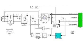 شبیه سازی کنترل ولتاژ موتور القایی تکفاز به کمک اینورتر در محیط سیمولینک نرم افزار متلب