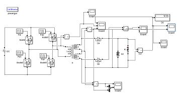شبیه سازی مبدل DC به DC به کمک مبدل پل کامل در نرم افزار متلب