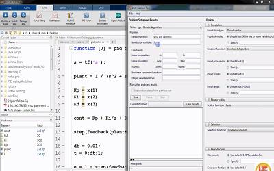 تنظیم پارامترهای کنترل کننده PID به کمک الگوریتم ژنتیک در نرم افزار Matlab