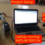 کنترل بازوی ربات سه درجه آزادی با حرکات بدن در نرم افزار Matlab