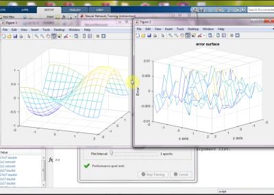 تقریب رفتار یک معادله سطح به کمک شبکه عصبی در نرم افزار متلب