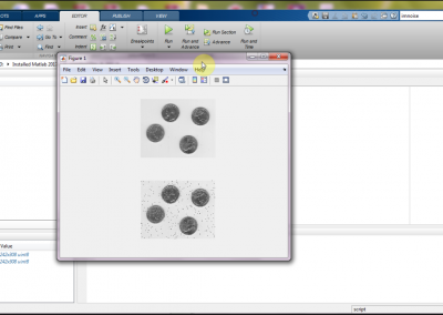 حذف نویز تصاویر در نرم افزار matlab
