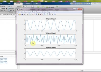 مدولاسیون و دمودلاسیون سیگنال ها در نرم افزار matlab